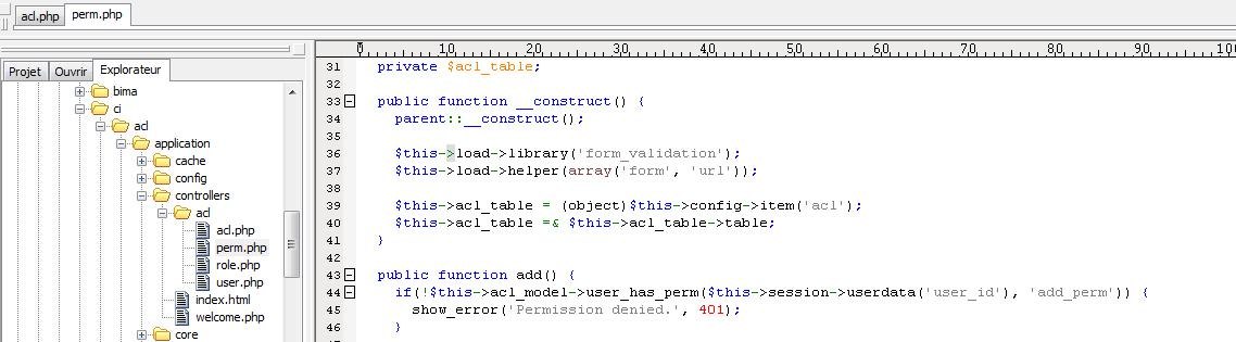 ACL and Login Authentification CodeIgniter samples – ExtraDRM